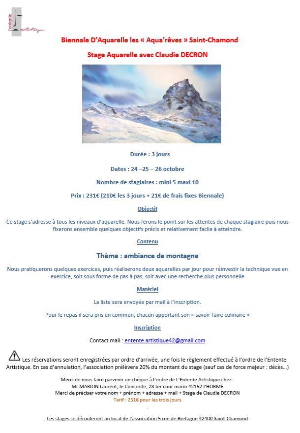 Stage à St Chamond 42 @ St Chamond  | Saint-Chamond | Auvergne-Rhône-Alpes | France