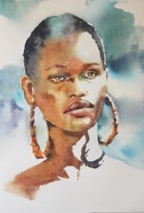 Jeune femme africaine portrait